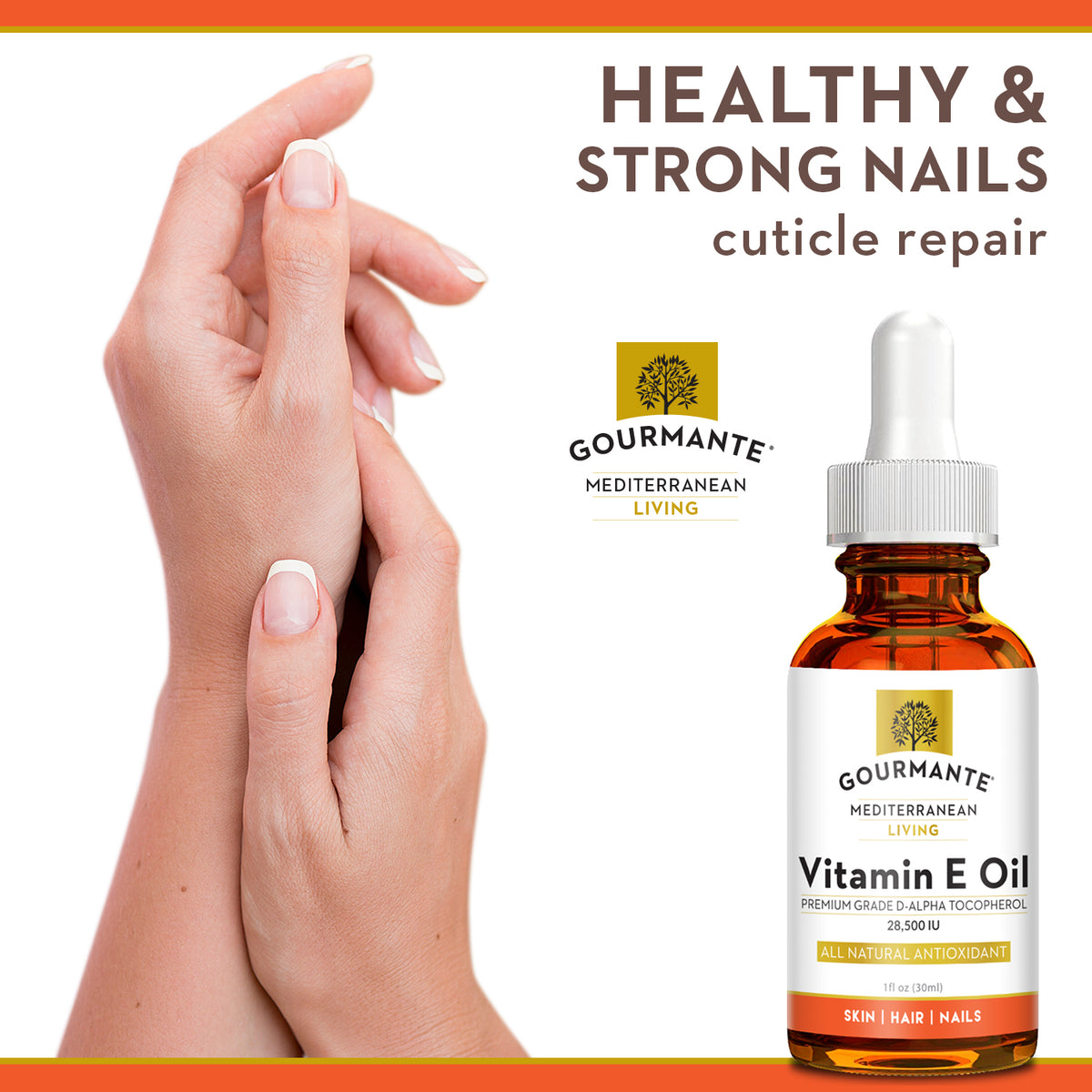 Gourmante vitamin e oil for healthy & strong nails