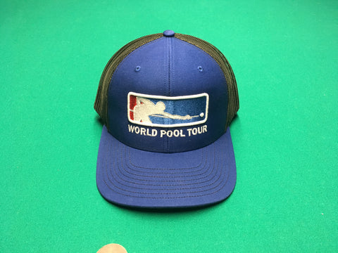 ROYAL BLUE/BLACK WORLD POOL TOUR SNAPBACK