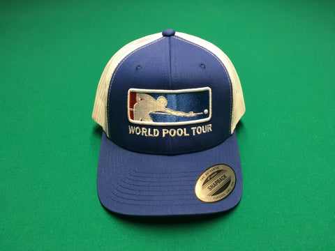 ROYAL BLUE/WHITE WORLD POOL TOUR SNAPBACK