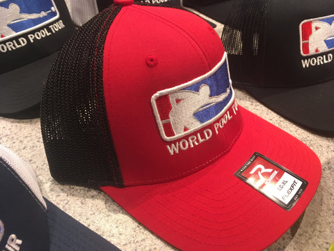RED/BLACK WORLD POOL TOUR FITTED HAT