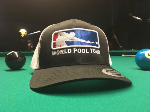 BLACK/WHITE WORLD POOL TOUR SNAPBACK