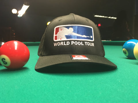 3D Puffed Embroidery WORLD POOL TOUR Logo