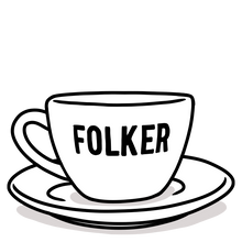 Load image into Gallery viewer, FOLKER Ceramic Cup & Saucer