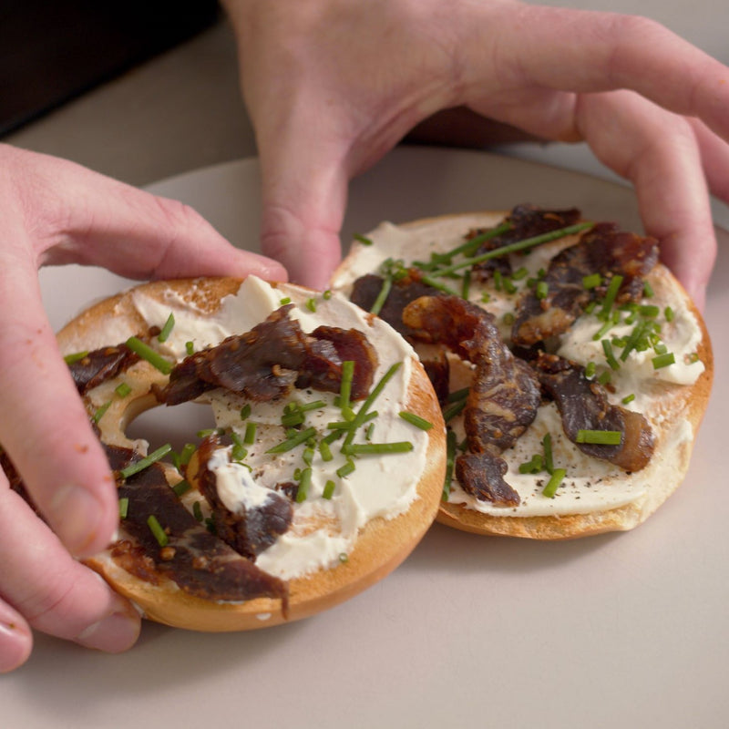 The Biltong Shack Cooking Club: Biltong and cream cheese bagels