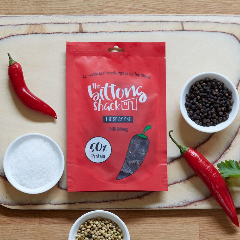 The Spicy One - 20 x Chilli Biltong Snack bags