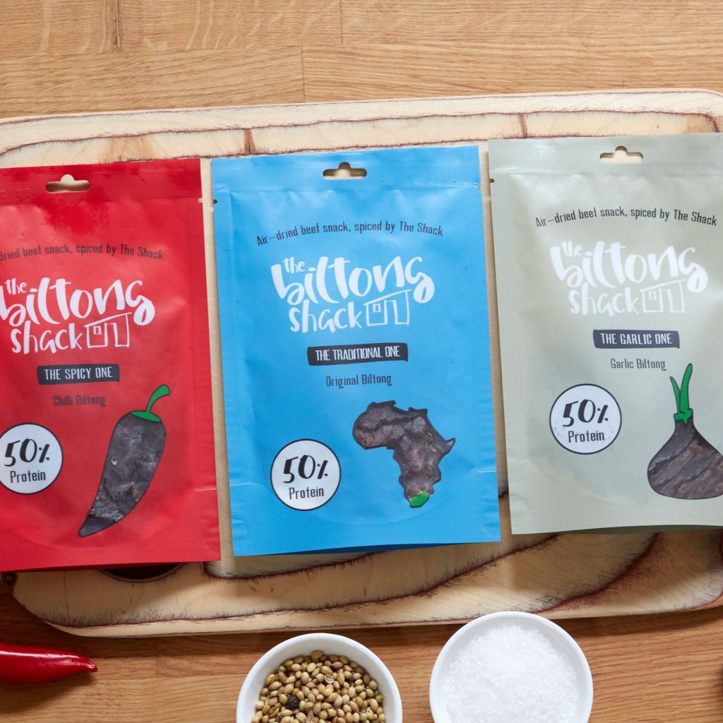 The Mixed One -  10 x Biltong Snack bags (Mixed flavours)