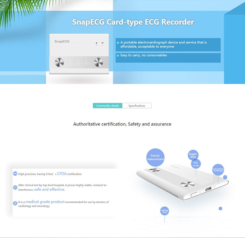 ECG Monitor for Home Wireless Heart Performance – Aussie