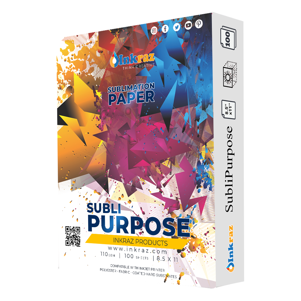 "Dye Sublimation Transfer Paper SUBLIPAPER 100 Sheets 8.5""x11"""