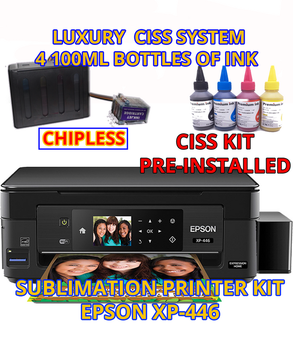 Sublimation Epson XP-446 ChipLess Mianboard Built-on Tank with Ink