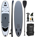 HIKS 10.6FT / 3.2M INFLATABLE STAND UP PADDLEBOARD ( SUP ) SET - BATTLESHIP GREYgohiks
