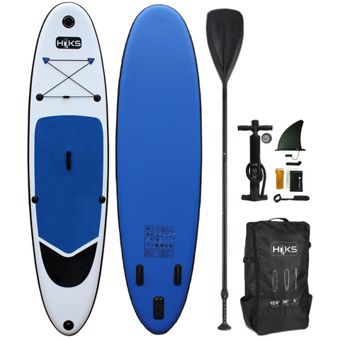 HIKS 10.6FT / 3.2M INFLATABLE STAND UP PADDLEBOARD ( SUP ) SET - BIG BLUEgohiks
