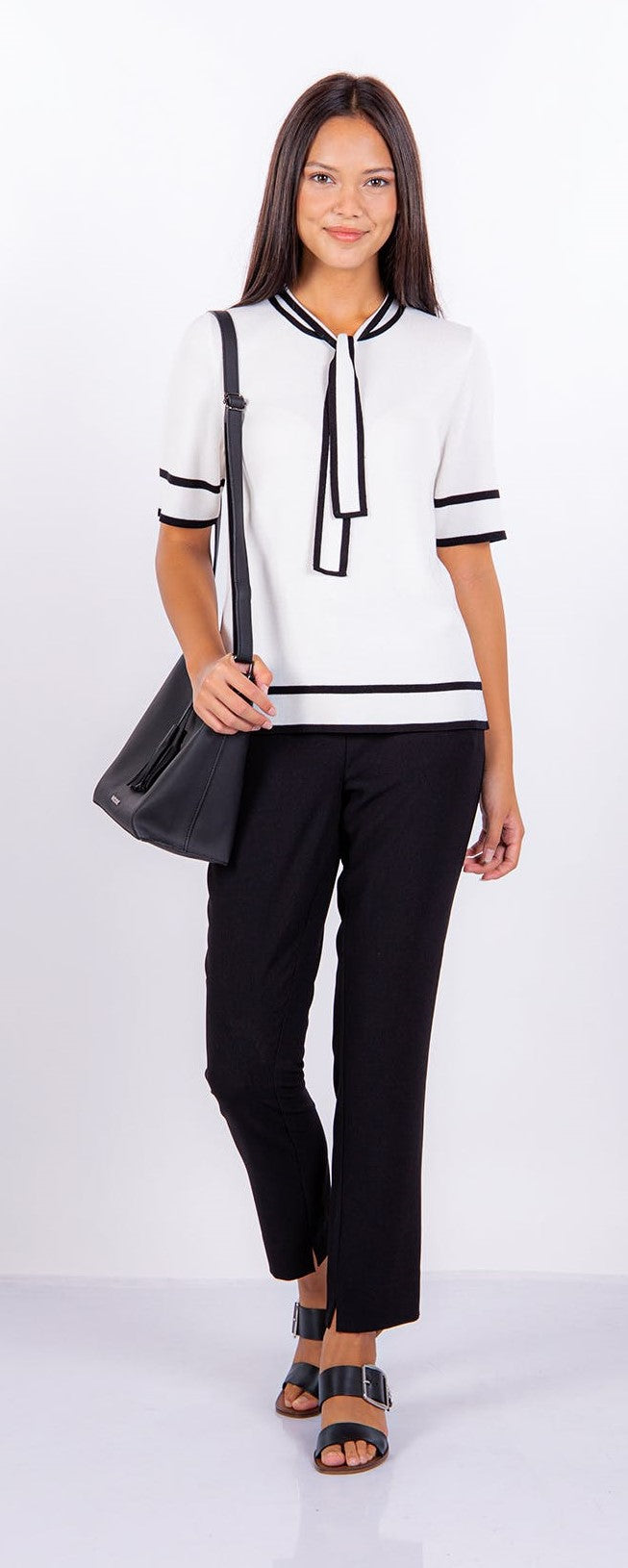 Mexx cream & Black Jumper