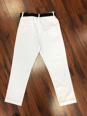 Mexx White turn-up pant