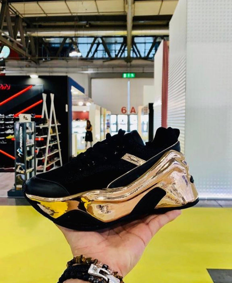 VL Gold Chunky Trainers