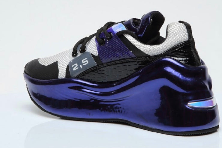 VL Black & Purple Chunky Trainers