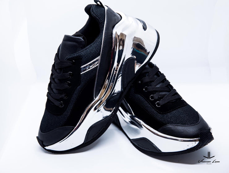 VL Chunky Trainers - Black and Silver