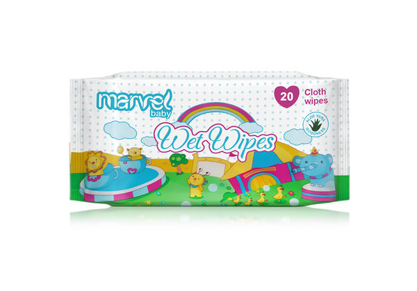 MARVEL BABY WET 20 WIPES