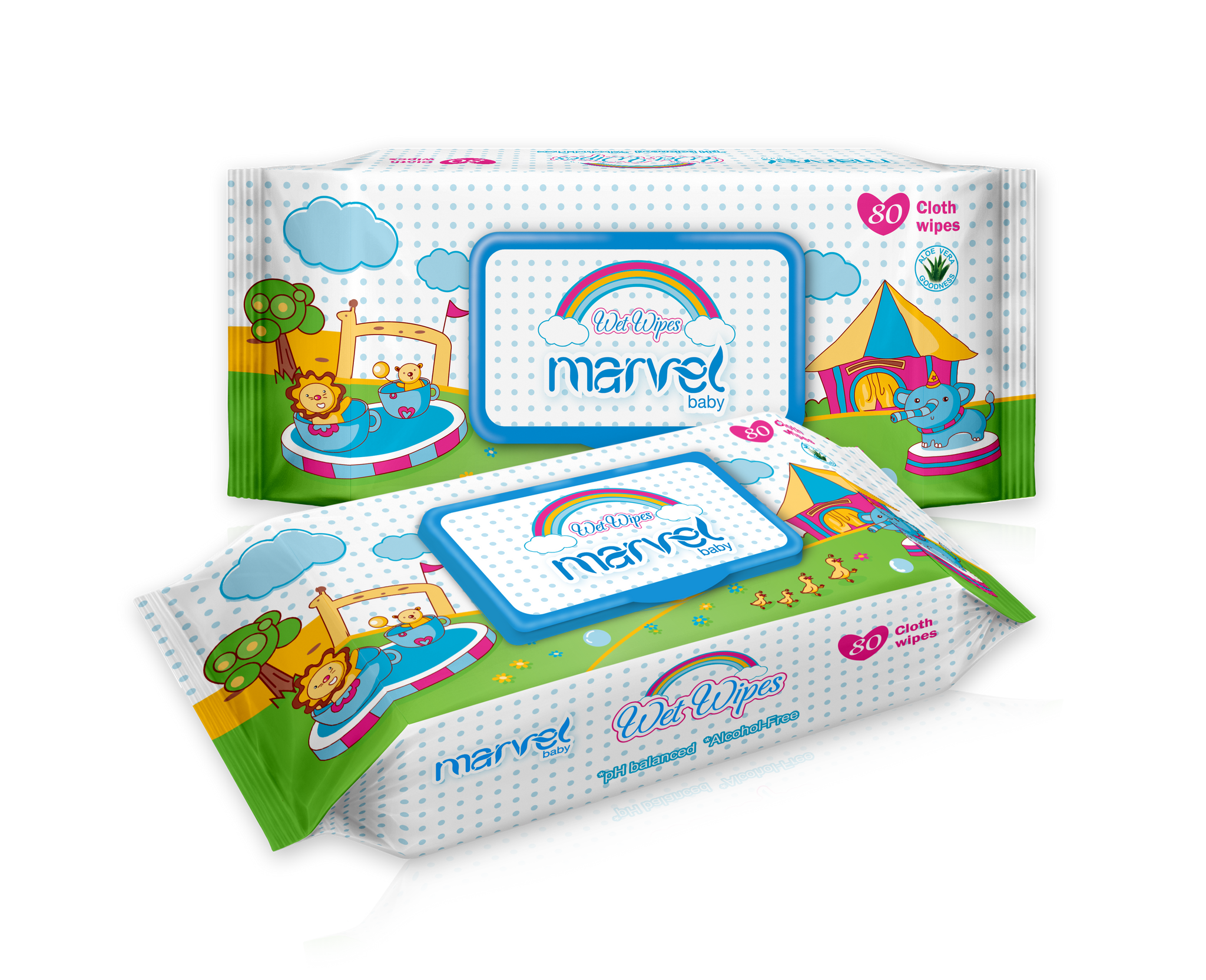 MARVEL BABY WET 80 WIPES
