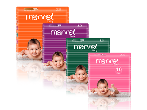 MARVEL BABY DIAPERS 16 PACK