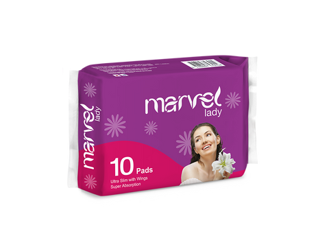 MARVEL SANITARY PADS 10 PACK