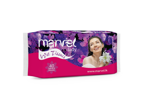 MARVEL LADY WET TISSUES 40 PACK