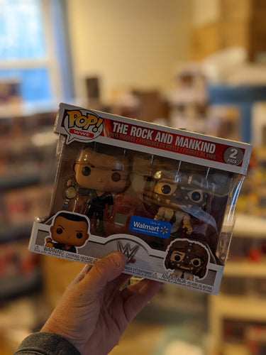 The Rock and Mankind 2 Pack Walmart Exclusive