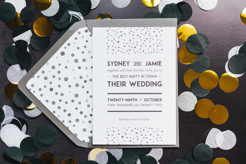 Elegant, vintage-inspired save the date