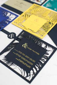 Pen & Fold: Palm Suite tropical menus