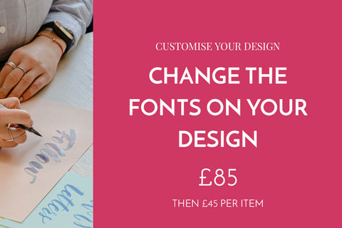 Change one font on your design
