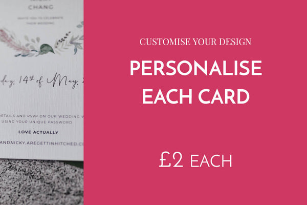 Personalise each card