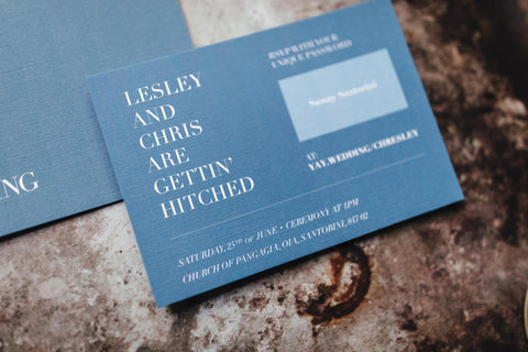 Minimalistic, modern wedding invitation
