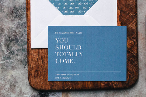 Funny, minimal save the date