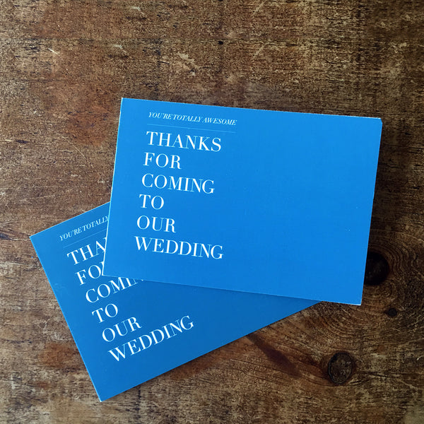 Minimalistic, modern fold-out thank you card