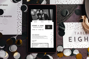 Elegant, minimal wedding website