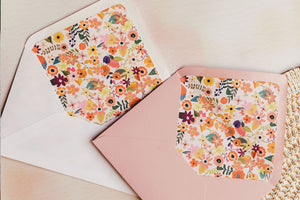 Autumn floral envelope liners