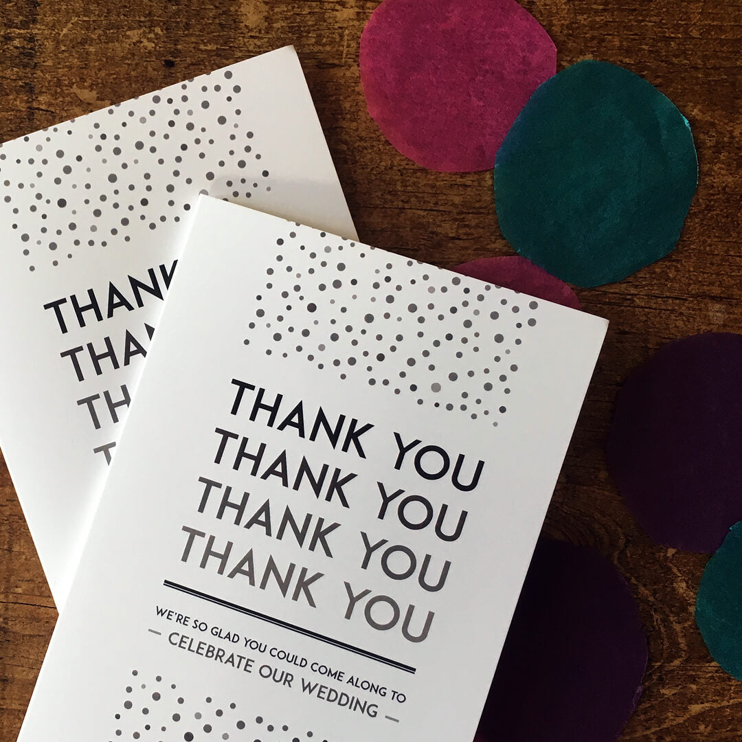 Elegant, vintage, fold-out thank you card