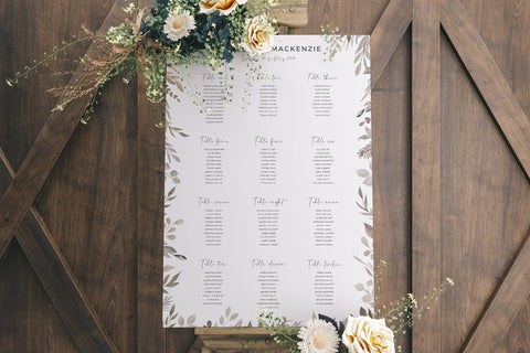 Rustic, vintage table plan
