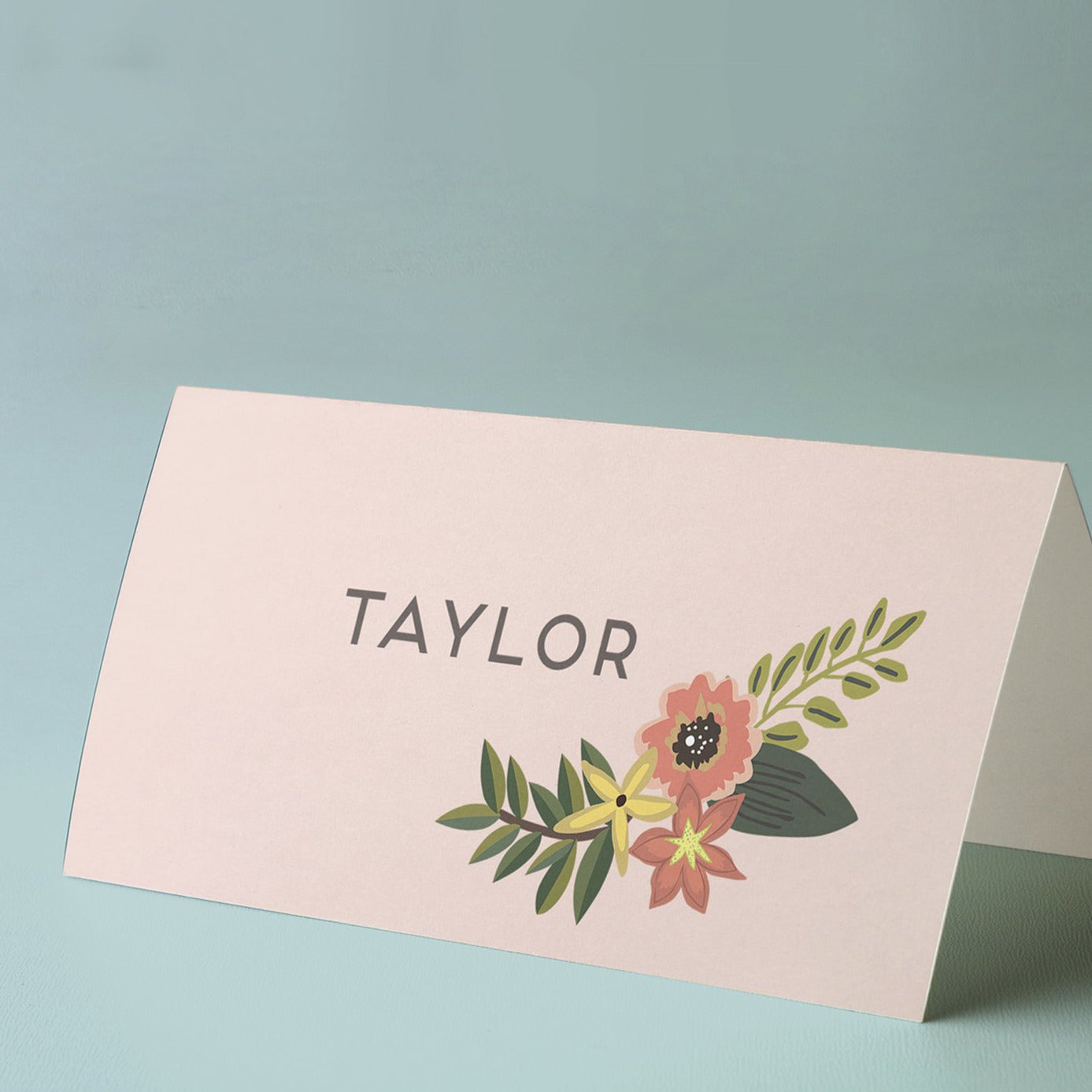 Rustic, floral placecards
