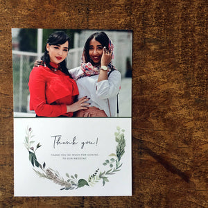 Rustic, vintage thank you postcard