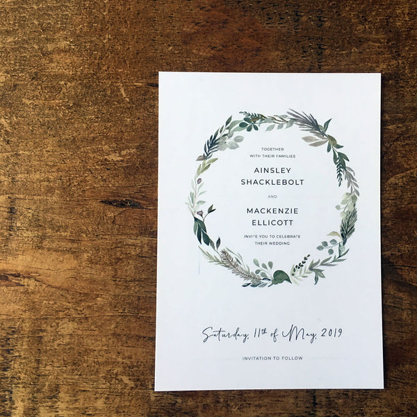 Rustic, vintage save the date