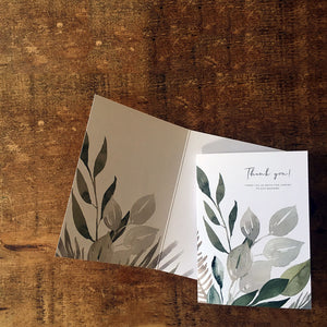 Rustic, vintage, fold-out thank you card