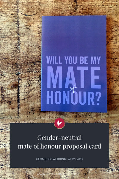 Straight to the point will you be my mate of honour proposal card
