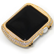 Load image into Gallery viewer, glittering diamond metal apple watch circle watch case for apple watch series 1 2 3