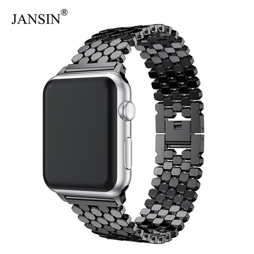 JANSIN link Stainless Steel Strap for apple watch band 42mm/38mm/40mm/44mm bracelet watch band for iwatch bands series 4 3 2 1