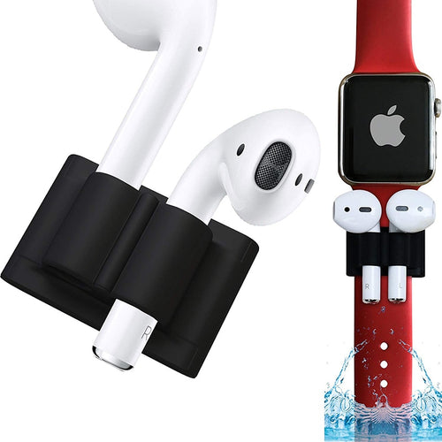 For Apple AirPods Silicone Holder Clip Earphone Stand Case for Apple Watch series 3 2 1 Sport Hook Clip Anti-lost For Iwatch 4