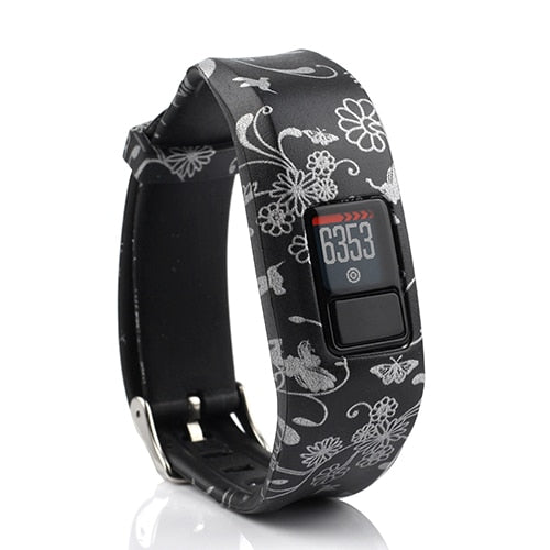 Honecumi For Garmin Vivofit3 Strap Silicone Replacement Band StrapsFor Garmin Vivofit 3 / Vivofit JR with Secure Watch Clasp