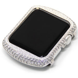 glittering diamond metal apple watch circle watch case for apple watch series 1 2 3