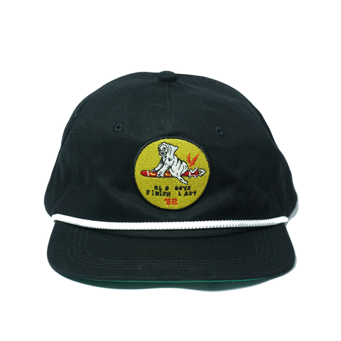 Old Guys Snapback Hat - Black