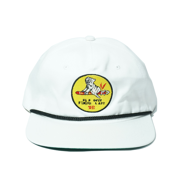 Old Guys Snapback Hat - White