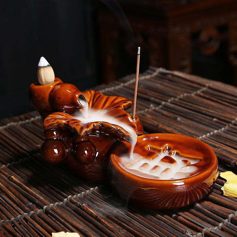 The Divine Text Aromatherapy Waterfall Incense Burner for Gift, Home and Office